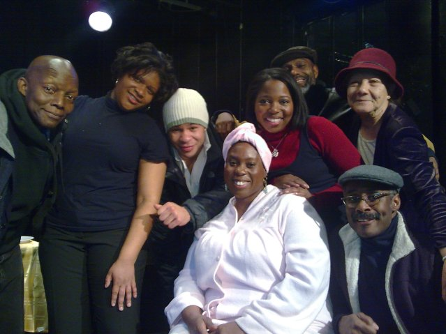 l. to r. Charles Simpson, Malikia Causey, Calistus Oniyuke, Alysia Joy Powell, Kubbi Douglas Walker, Sarah McKinney, Tony Jackson at The Negro Ensemble Company Training Program's Lost & Found 2 Dec 10, 2010 Honoring actor Tony Jackson of Laurence Holder's Monk 'n' Bud and Emerging Playwright Alysia Joy Powell