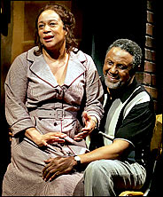 Charles Weldon and Epatha  Merkerson on stage