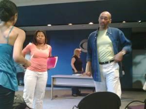 Lindsay Strachen KUBBI Ralph McClain Fern Orenstein Negro Ensemble Co at CBS NY