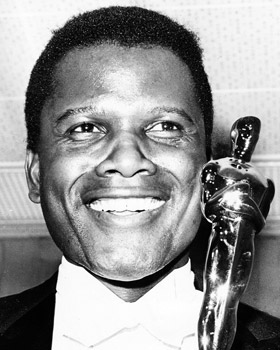 Sidney Poitier wins Oscar for Lillies of the Field