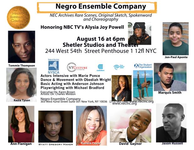 NEC Sping 2015 Actors Intensive Show Flyer2